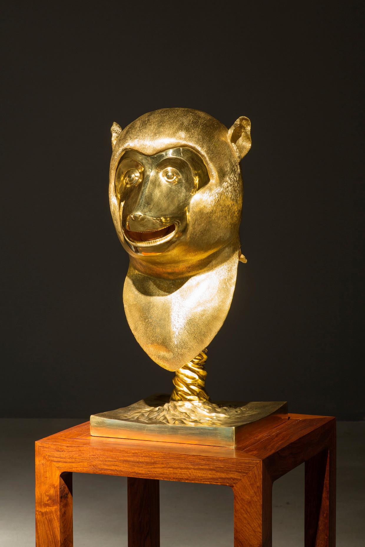 Ai Weiwei, Circle of Animals/Zodiac Heads, 2010. (Monkey) Photo Anders Sune Berg