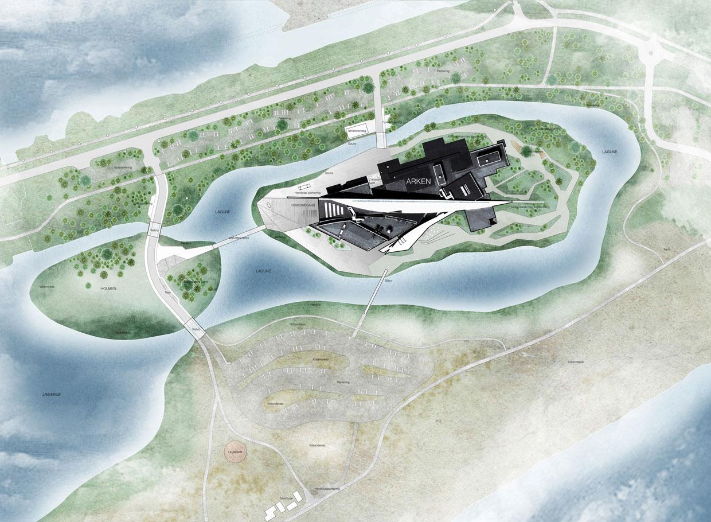 The Island of Art. Illustration: Møller & Grønborg