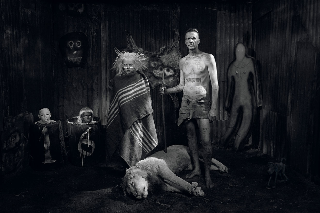 Roger Ballen, Schack Scene, 2012. Courtesy Roger Ballen and Galleri Tom Christoffersen. Photography taken during the recordings of Die Antwoord's music video for I Fink U Freeky by Roger Ballen
