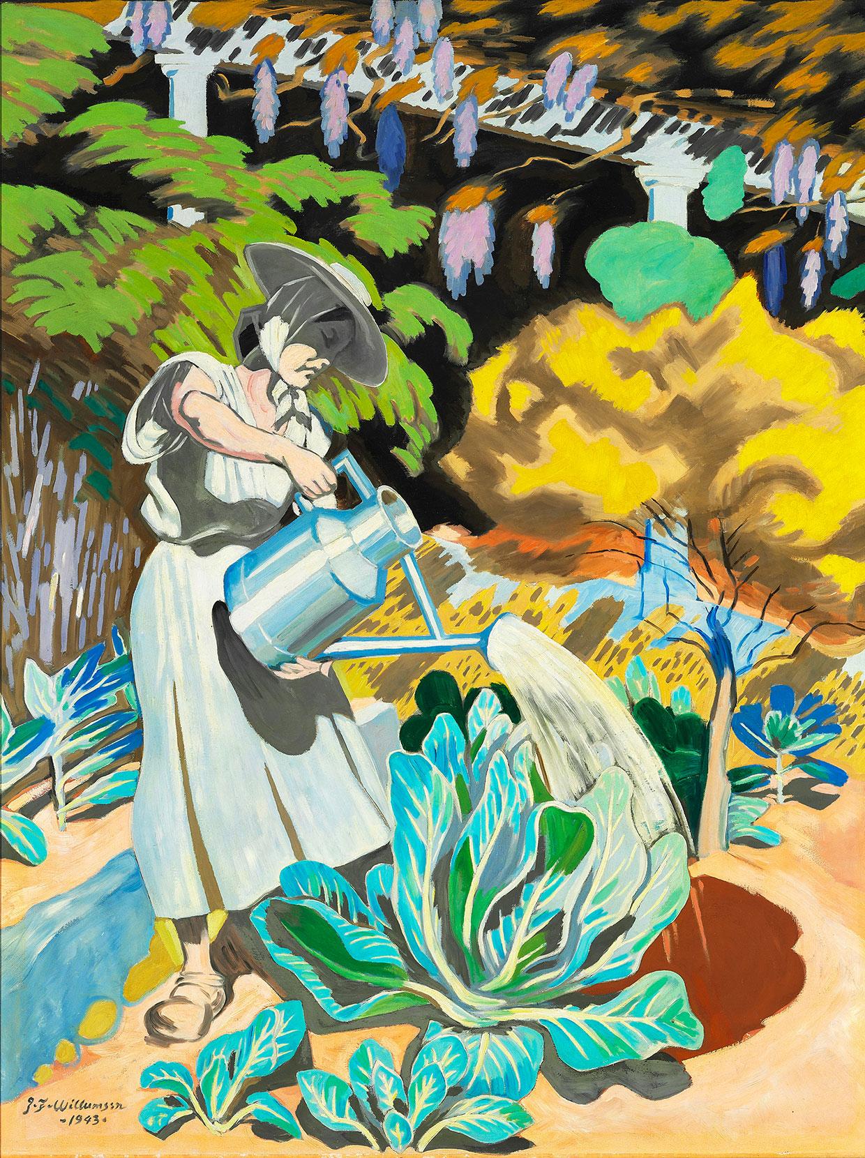 J.F. Willumsen, Madame Watering Her Cabbages, 1943. J.F. Willumsens Museum. Photo: Anders Sune Berg