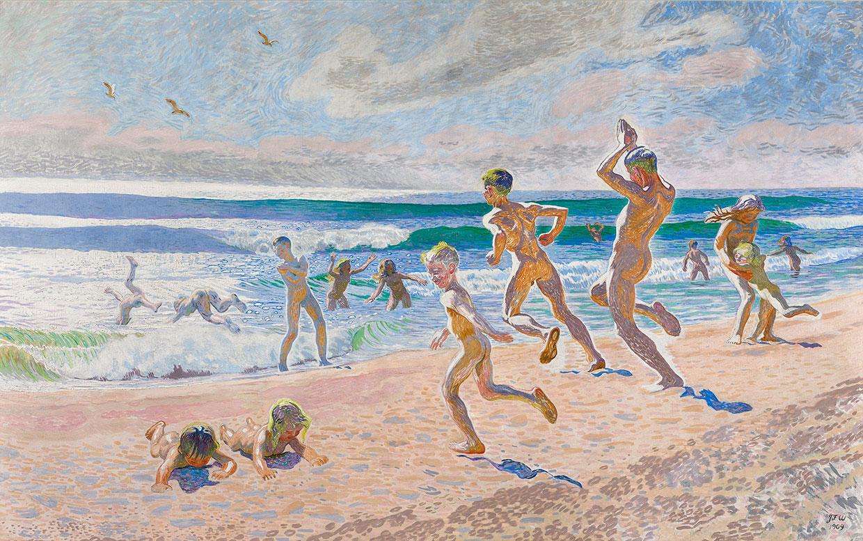 J.F. Willumsen, Bathing Children at Skagen Beach, 1909. J.F. Willumsens Museum. Photo: Anders Sune Berg