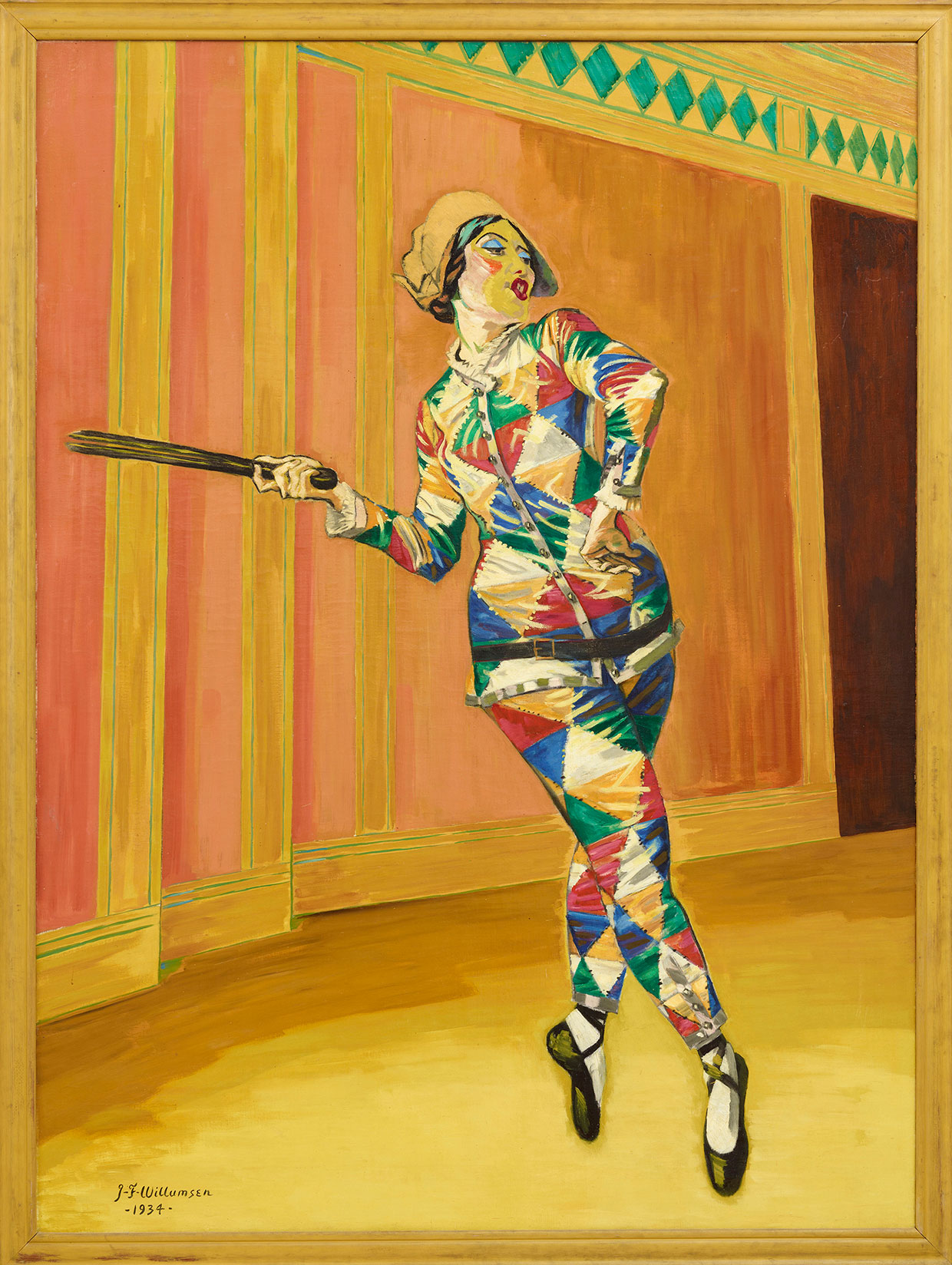J.F. Willumsen, Michelle Bourret Dancing Harlequin, 1934. J.F. Willumsens Museum. Photo: Anders Sune Berg