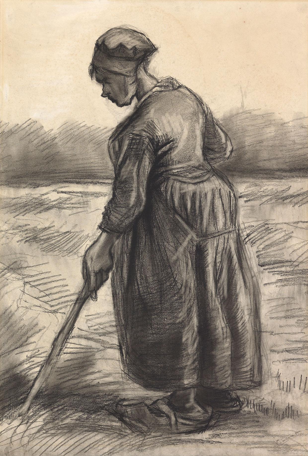 Vincent van Gogh, Peasant woman haying, 1885. Coll. Kröller-Müller Museum, Otterlo