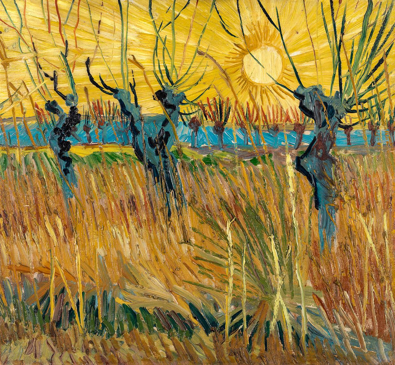 Vincent van Gogh, Pollard willows at sunset, 1888. Coll. Kröller-Müller Museum, Otterlo