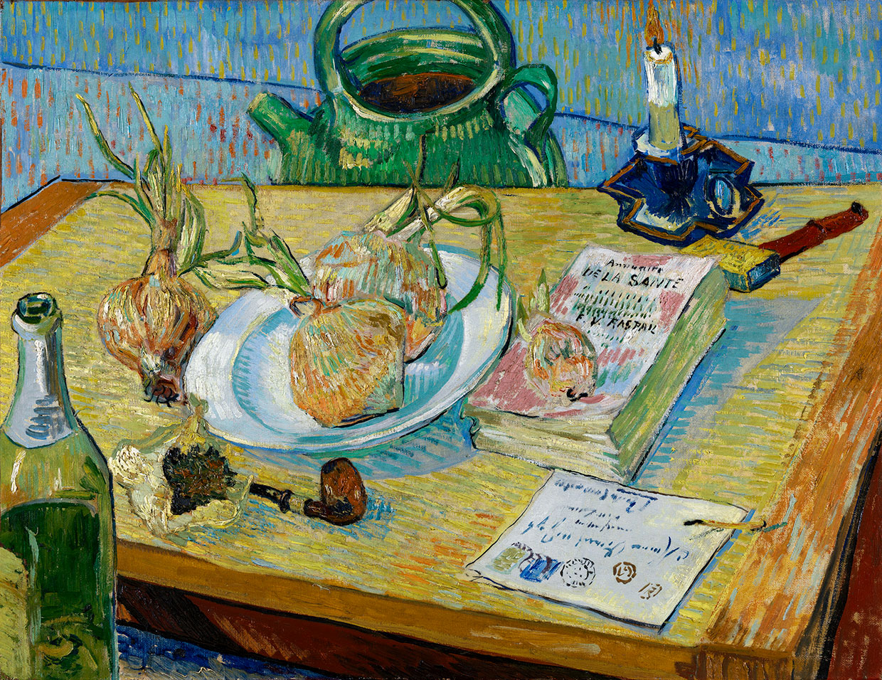 Vincent van Gogh, Still-life with a plate of onions, 1889. Coll. Kröller-Müller Museum, Otterlo