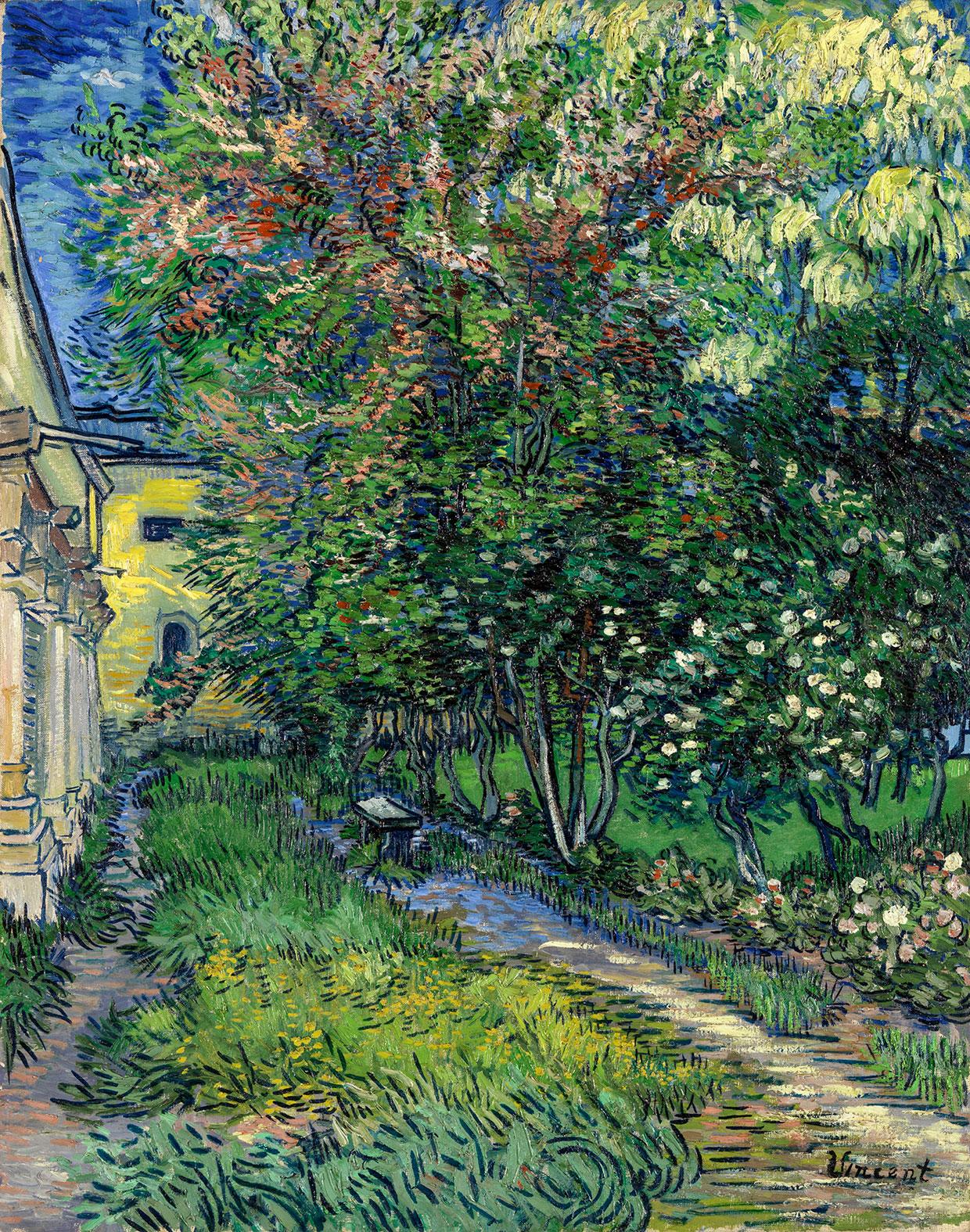 Vincent van Gogh, The garden of the asylum at Saint-Rémy, 1889. Coll. Kröller-Müller Museum, Otterlo