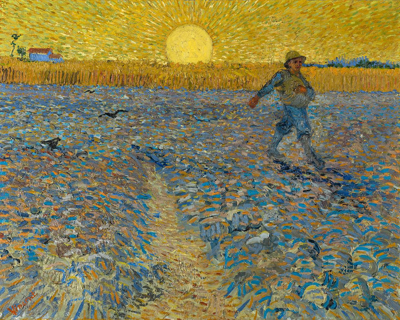 Vincent van Gogh, The sower, 1888. Coll. Kröller-Müller Museum, Otterlo